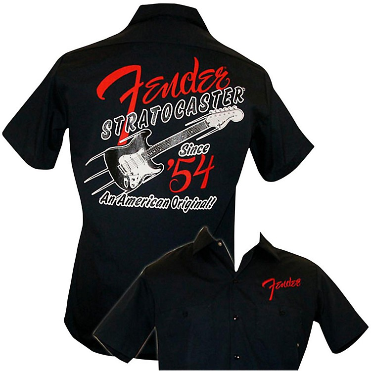 Fender 1954 Strat Work Shirt Navy Large