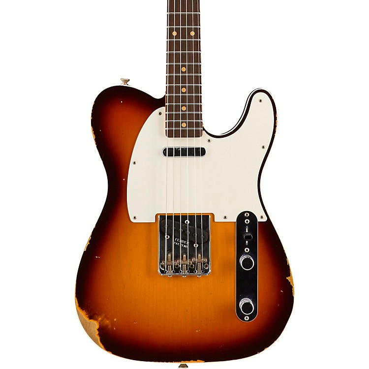 Fender Custom Shop 1959 Relic Telecaster Custom - Custom Built - NAMM Limited Edition Faded Chocolate 3-Color Sunburst