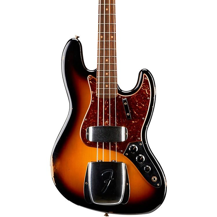 Fender Custom Shop1962 Jazz Bass Relic Rosewood FingerboardFaded 3-Color Sunburst