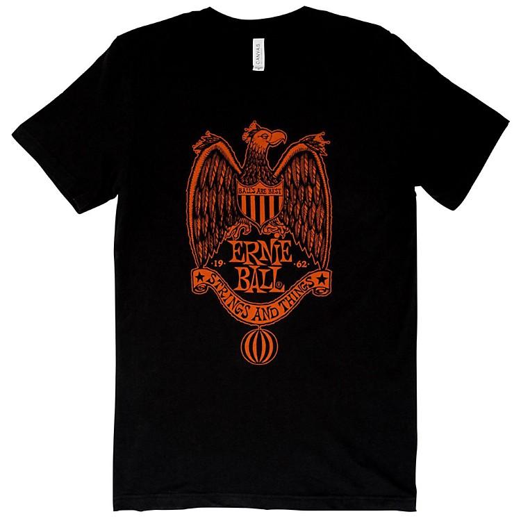 Ernie Ball1962 Strings and Things Orange Font T-ShirtXX LargeBlack