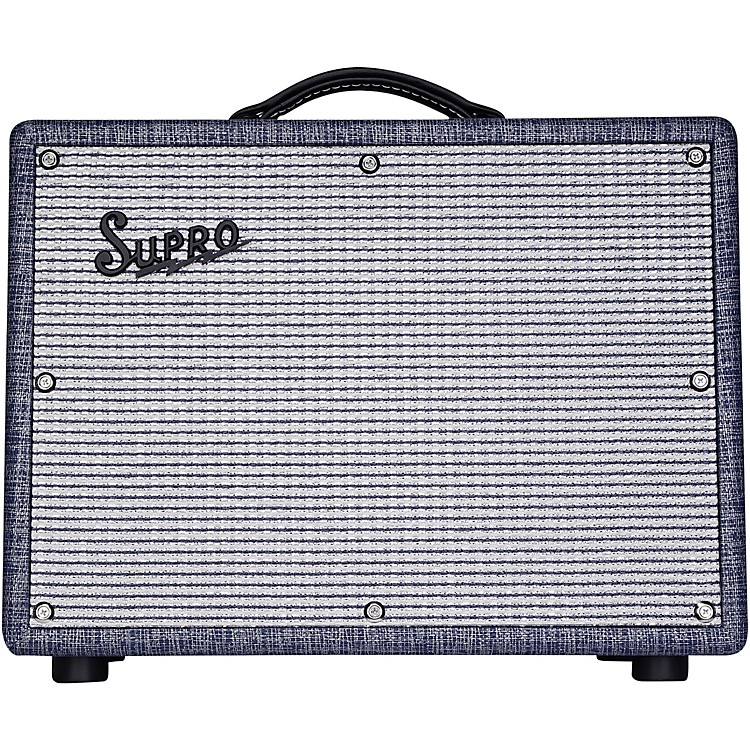 Supro 1970RK Keeley Custom 25W Tube Guitar Combo Amplifier Blue