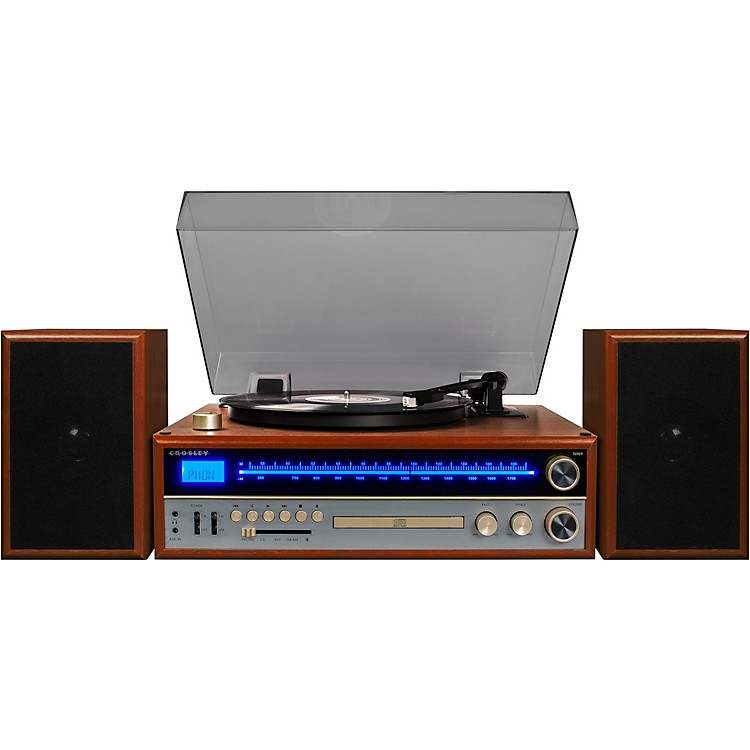 Crosley 1975T Shelf System with Turntable, CD and Radio Walnut