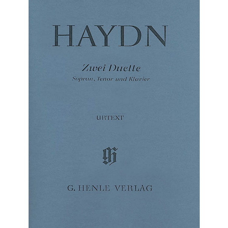 G. Henle Verlag2 Duets for Soprano, Tenor and Piano Hob.XXVa:2 and 1 Henle Music Softcover by Haydn Edited by Helms