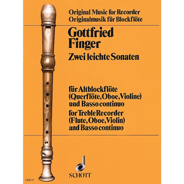 Schott2 Easy Sonatas (for Treble Recorder (Fl/Ob/Vn) and Basso Continuo) Schott Series