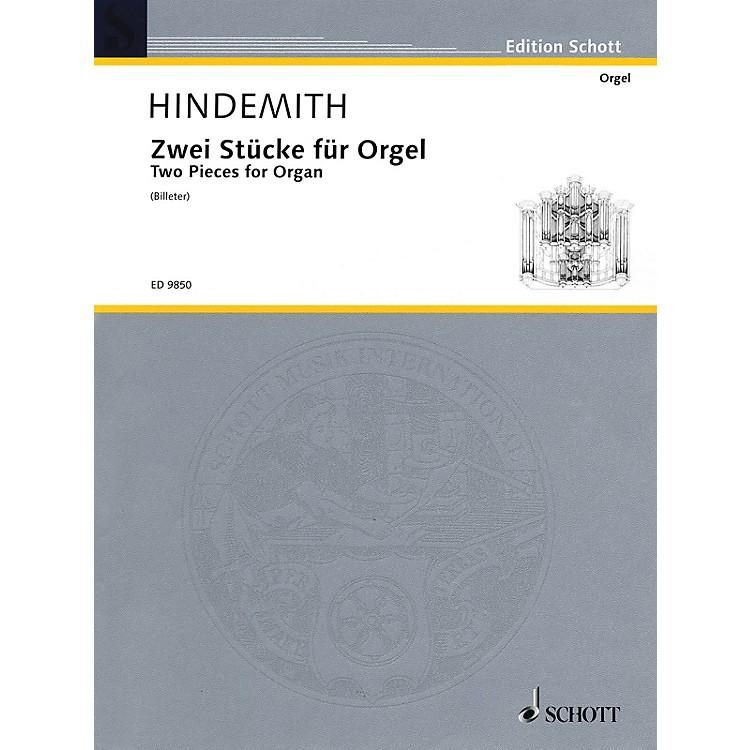 Schott2 Pieces for Organ (1918) Schott Series