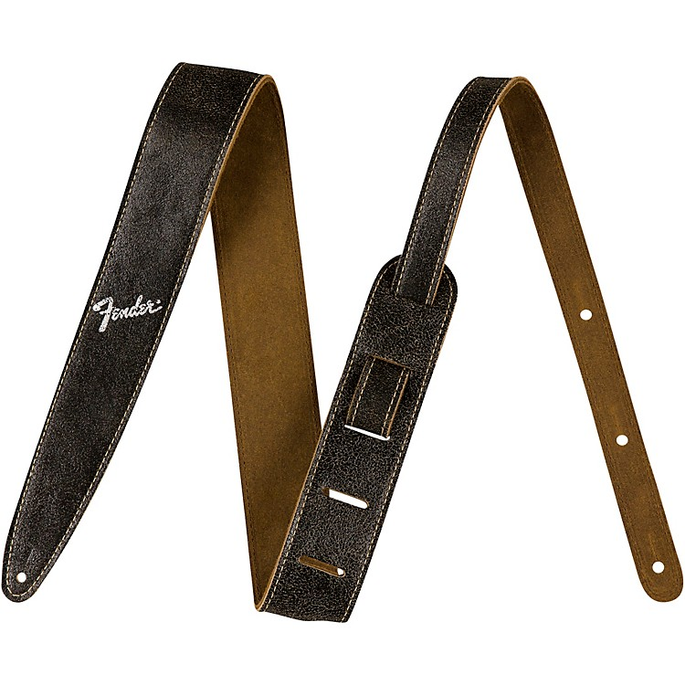 Fender2 in. Distressed Leather StrapsBlack2 in.