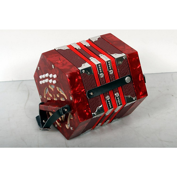 Musician's Gear 20-Button Concertina Red 888365847764
