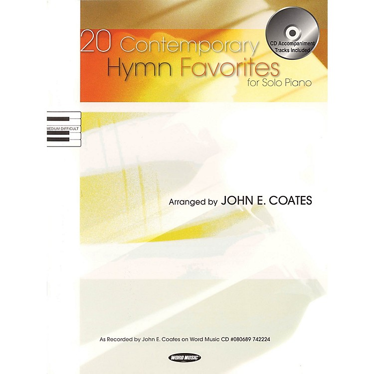Word Music20 Contemporary Hymn Favorites for Solo Piano Sacred Folio Series Softcover with CD