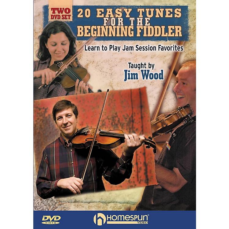 Homespun20 Easy Tunes for the Beginning Fiddler Homespun Tapes Series DVD Written by Jim Wood