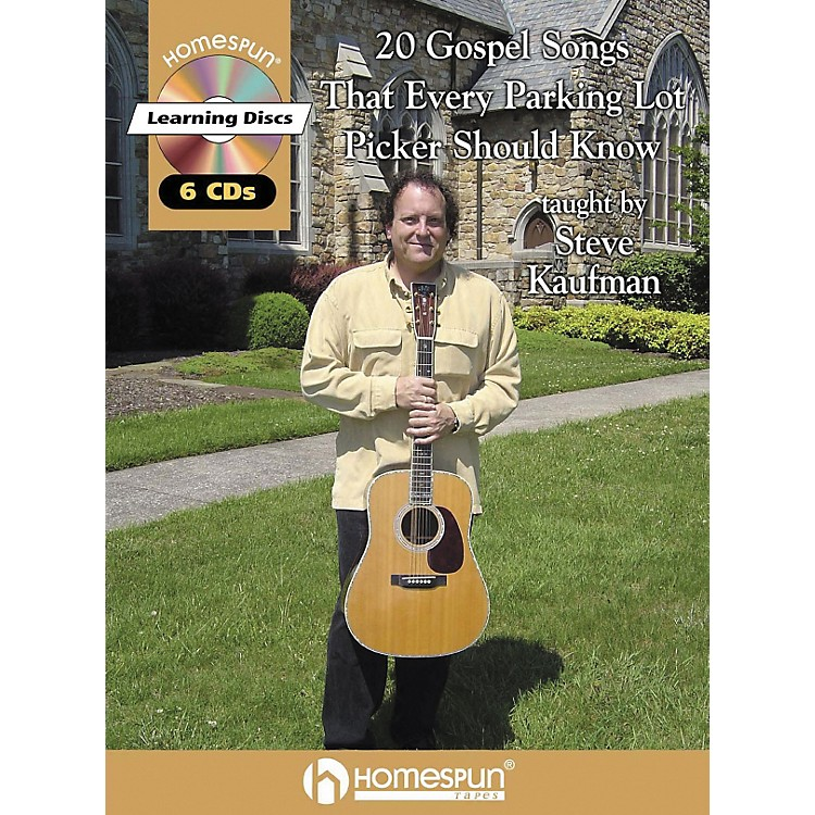 Homespun20 Gospel Tunes That Every Parking Lot Picker Should Know Guitar Book with CD