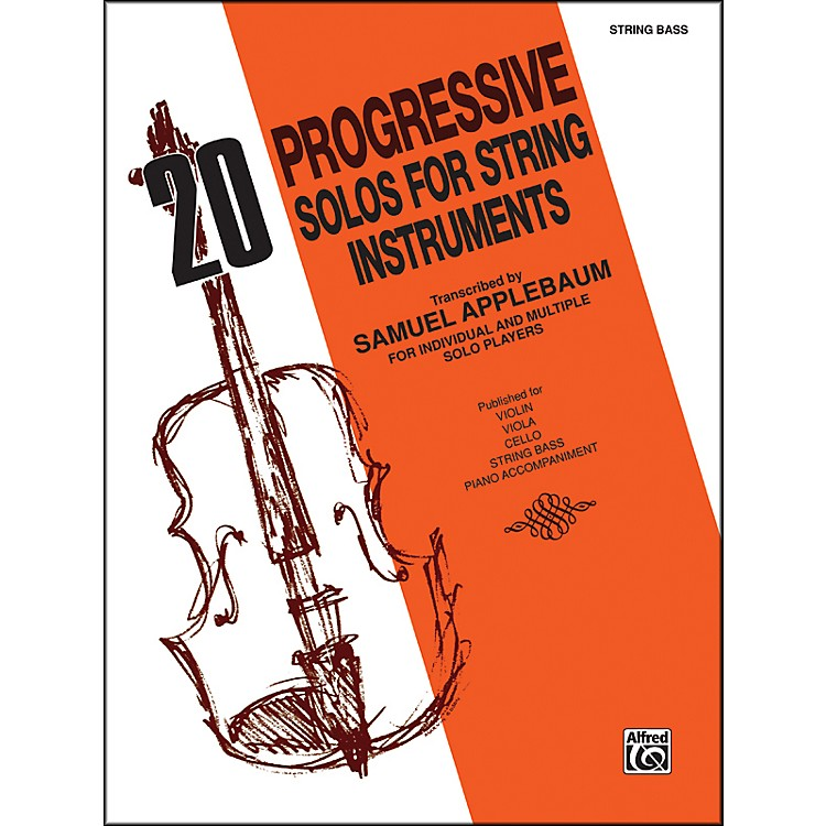 Alfred 20 Progressive Solos for String Instruments Bass