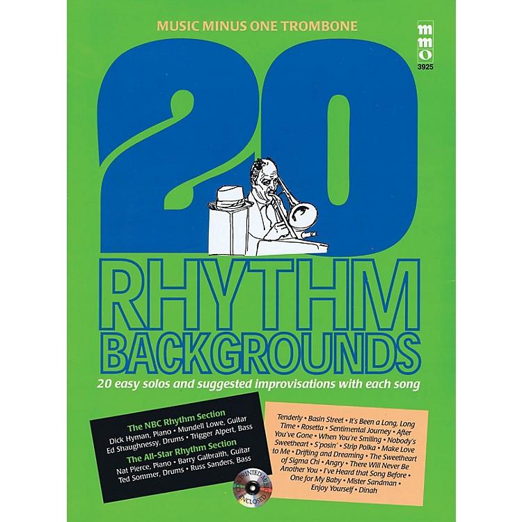 Music Minus One20 Rhythm Backgrounds (Music Minus One Trombone) Music Minus One Series Softcover with CD