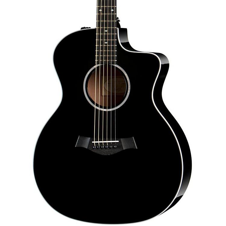 Taylor200 Series 214ce DLX Grand Auditorium Acoustic-Electric GuitarBlack