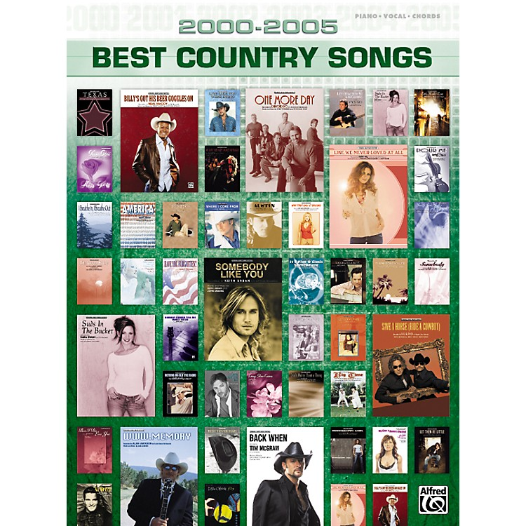 Alfred2000-2005 Best Country Songs Piano, Vocal, Guitar Songbook