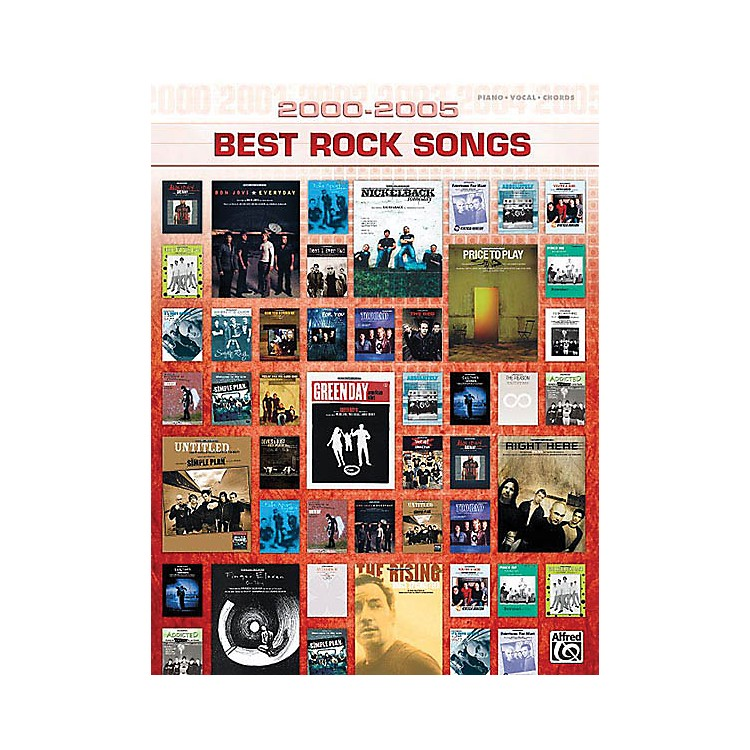 Alfred2000-2005 Best Rock Songs (2000-2005 Best Songs) Piano/Vocal/Guitar Songbook Series Softcover