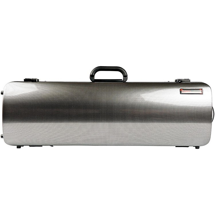 Bam 2001XL Hightech Oblong Violin Case without Pocket Silver Carbon