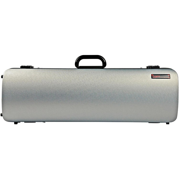 Bam 2001XL Hightech Oblong Violin Case without Pocket Metallic Silver