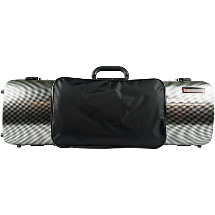 Bam 2011XL Hightech Oblong Violin Case with Pocket Silver Carbon