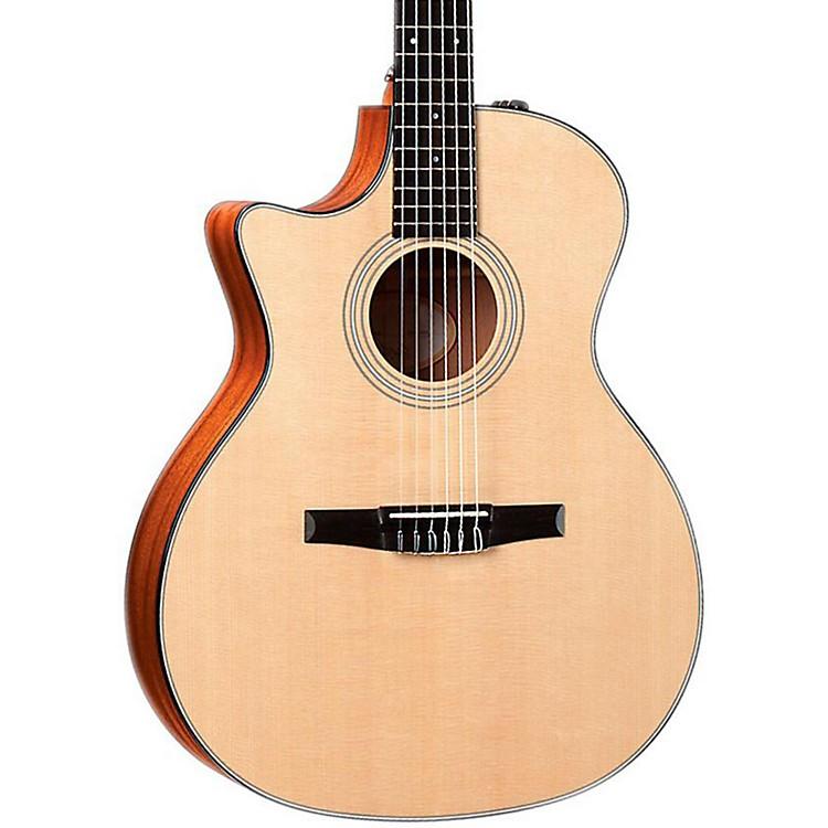 Taylor2012 314ce-N-L Sapele/Spruce Nylon String Grand Auditorium Left-Handed Acoustic-Electric Guitar