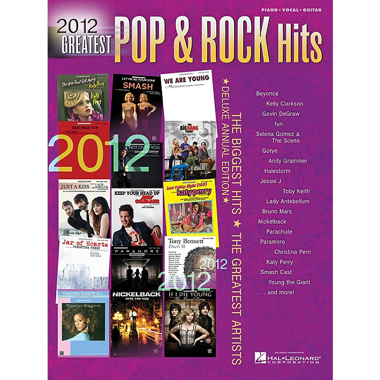 Hal Leonard2012 Greatest Pop & Rock Hits(pvg)# Piano/Vocal/Guitar Songbook Series