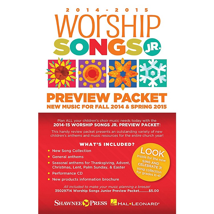Shawnee Press2014-15 Worship Songs Junior Preview Packet Resource Kit Composed by Various