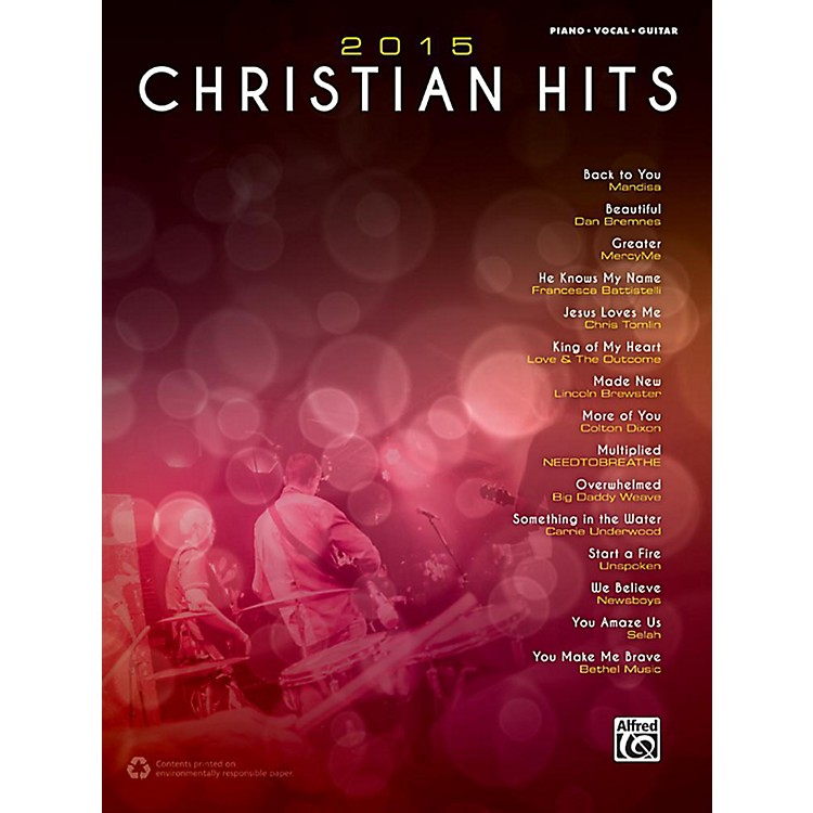 Alfred2015 Christian Hits - Piano/Vocal/Guitar Songbook