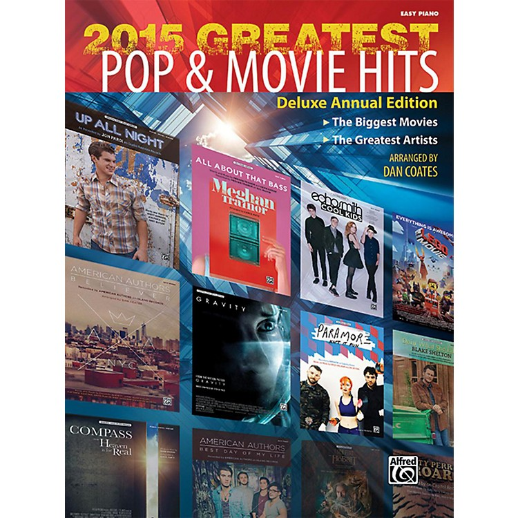 Alfred2015 Greatest Pop & Movie Hits Easy Piano Book