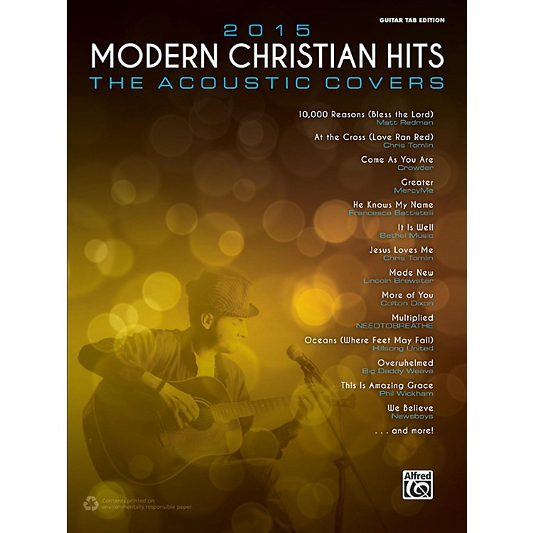Alfred2015 Modern Christian Hits: The Acoustic Covers - Guitar TAB Edition Songbook