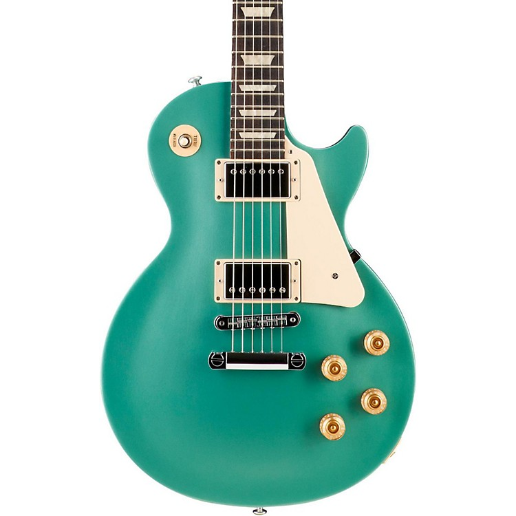 Gibson 2016 Les Paul Studio T Electric Guitar Inverness Green Chrome Hardware