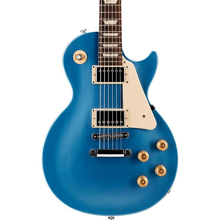Gibson2016 Les Paul Studio T Electric GuitarPelham BlueChrome Hardware