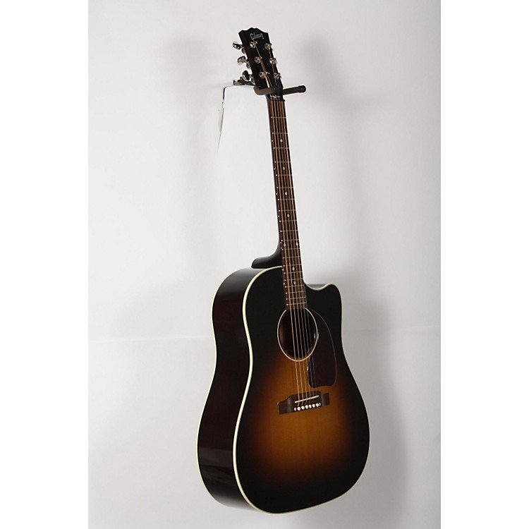 Gibson 2017 J-45 Slope Shoulder Dreadnought Acoustic-Electric Guitar Vintage Sunburst 888365898629