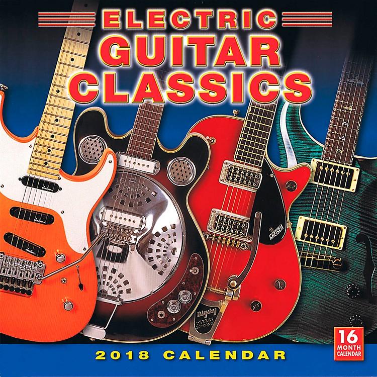 Hal Leonard2018 Electric Guitar Classics Wall Calendar 16 Months