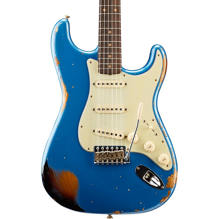 Fender Custom Shop2018 NAMM Limited Edition 1962 Heavy Relic Stratocaster Electric GuitarLake Placid Blue over 3-Color Sunburst