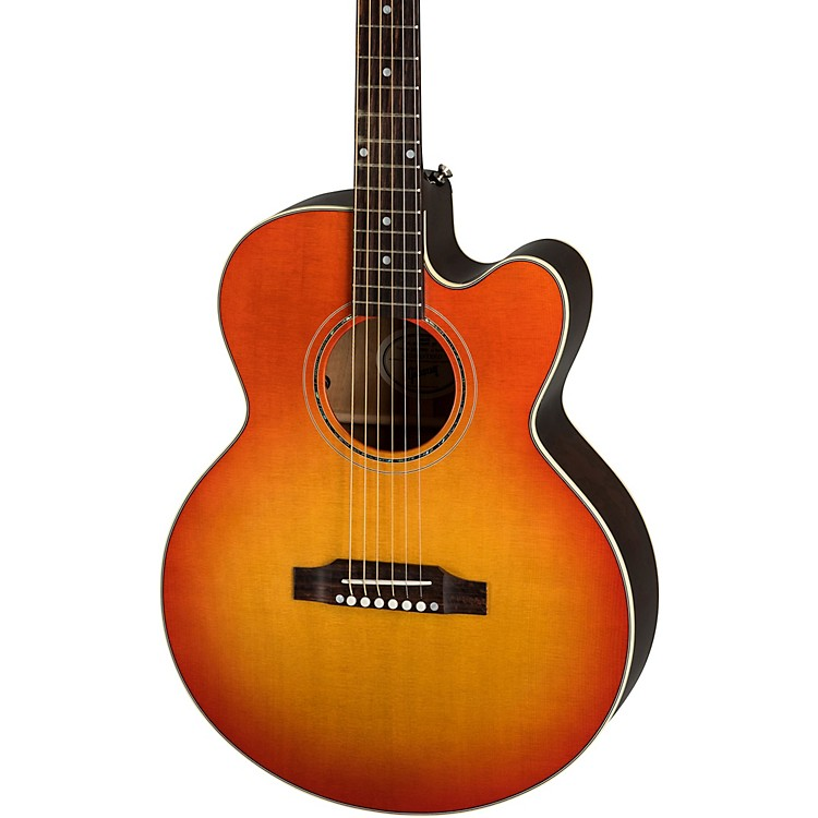 Gibson 2019 Parlor Avant Garde Mahogany Acoustic-Electric Guitar Cherry Burst