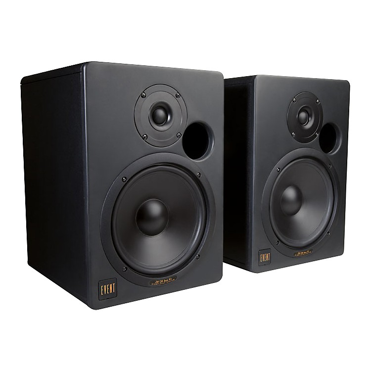 event 2020bas v3 active 250w studio monitor with 7 1 woofer and 1 silk tweeter music123
