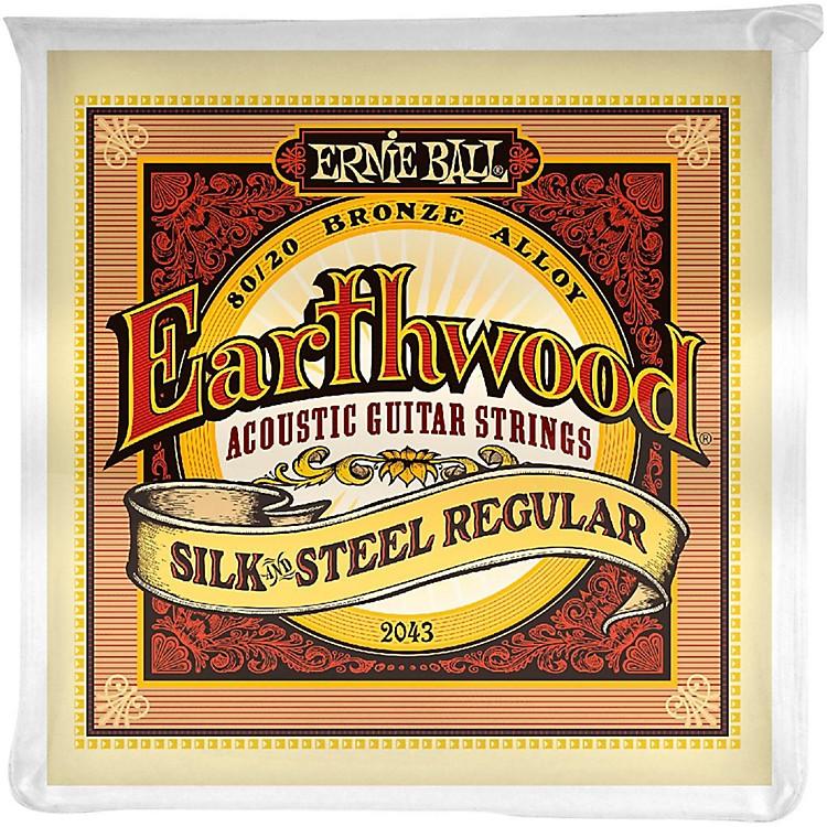 Ernie Ball2043 Earthwood 80/20 Bronze Silk and Steel Acoustic Guitar Strings