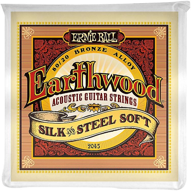 Ernie Ball2045 Earthwood 80/20 Bronze Silk and Steel Soft Acoustic Guitar Strings