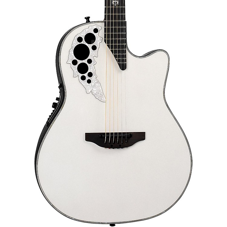 Ovation 2078ME-6P Melissa Etheridge Signature Acoustic-Electric Guitar Pearl White