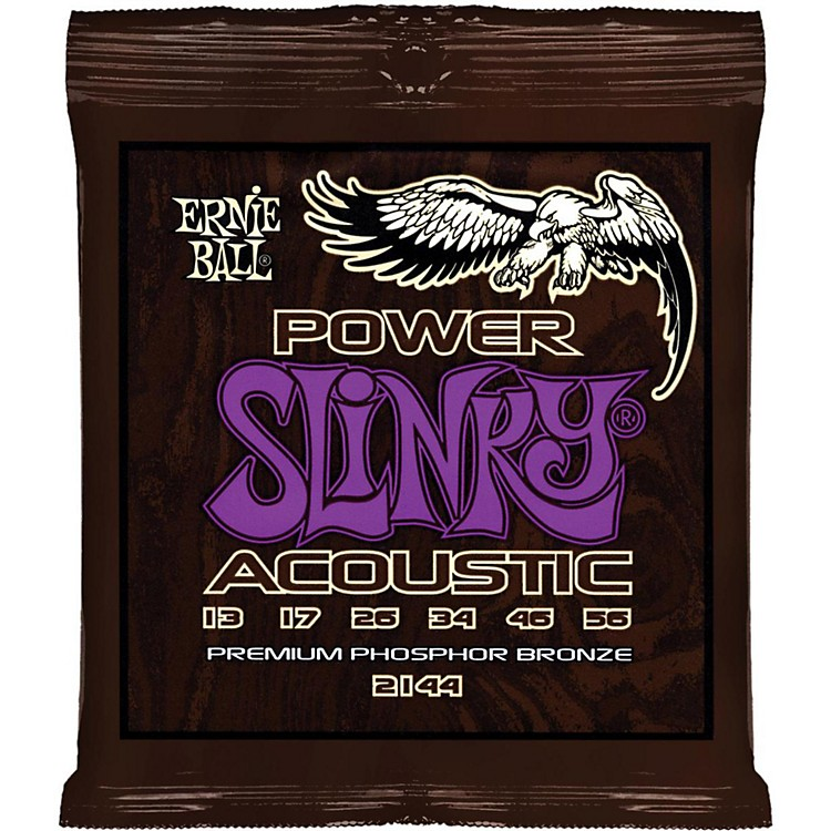 Ernie Ball2144 Power Slinky Phosphor Bronze Acoustic Guitar Strings