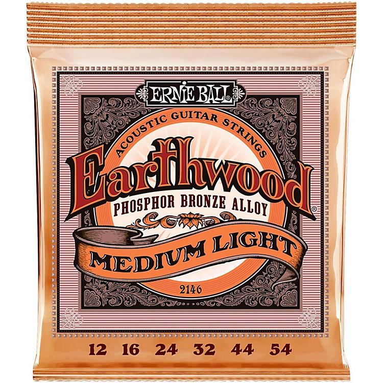 Ernie Ball2146 Earthwood Phosphor Bronze Medium-Light Acoustic Guitar Strings