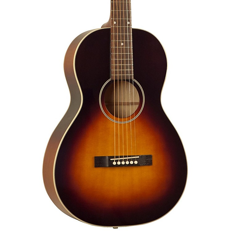 The Loar 215 O-Style Small Body Acoustic Guitar Vintage Sunburst