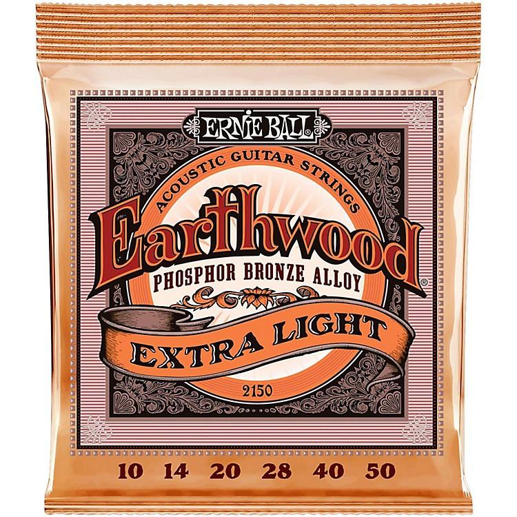 Ernie Ball2150 Earthwood Phosphor Bronze Extra Light Acoustic Guitar Strings
