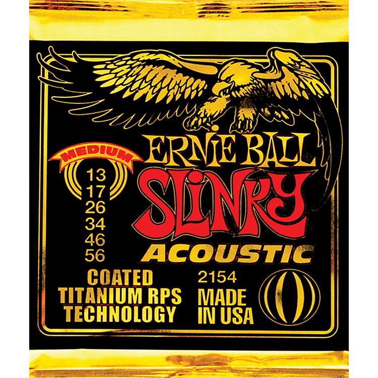 Ernie Ball 2154 Coated Slinky Medium Acoustic Guitar Strings