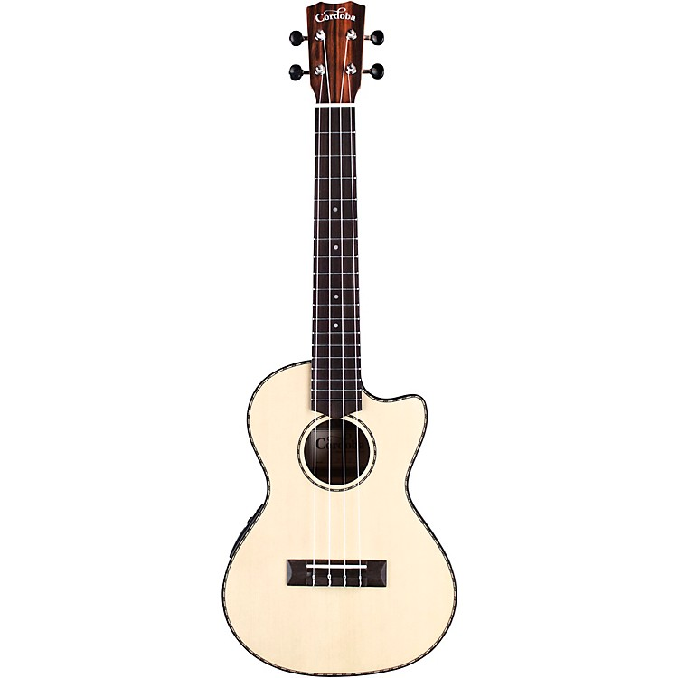 Cordoba 21T-CE Tenor Acoustic-Electric Ukulele Natural