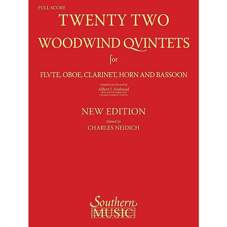 Southern22 Woodwind Quintets - New Edition (Woodwind Quintet) Southern Music Series Softcover