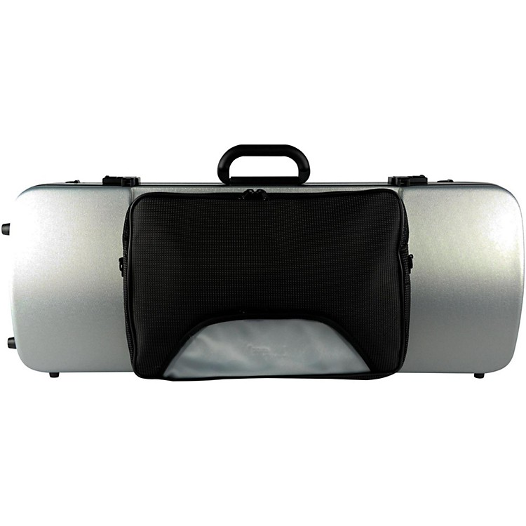 Bam 2202XL Hightech Large Adjustable Viola Case with Pocket Metallic Silver