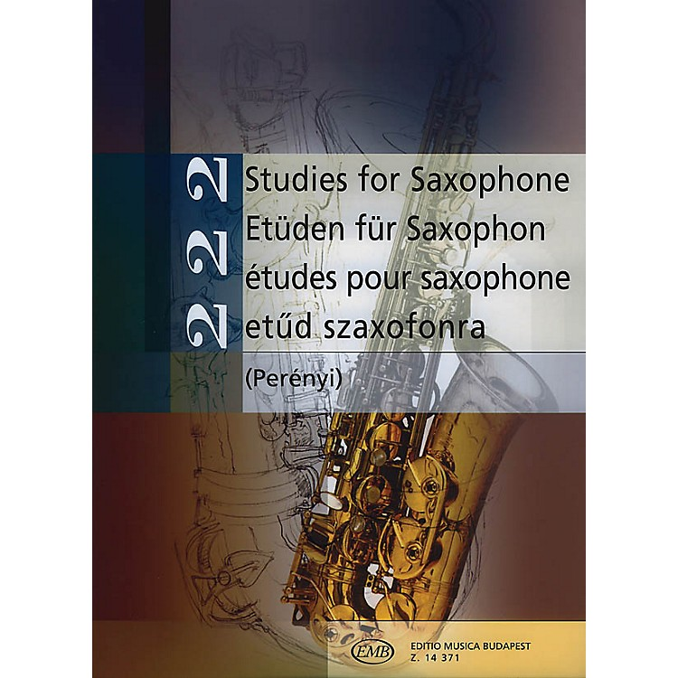 Editio Musica Budapest222 Studies for Saxophone (Intermediate Level) EMB Series  by Various