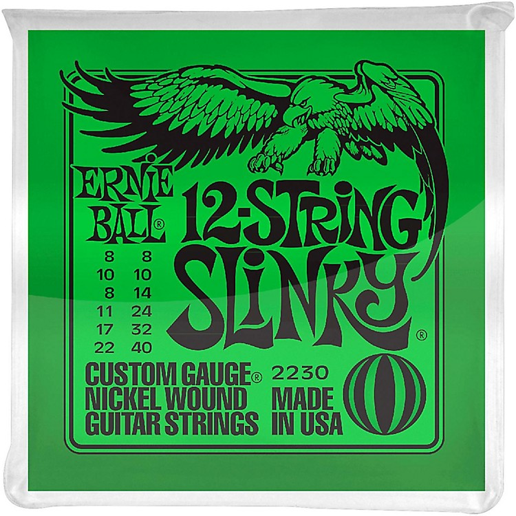 Ernie Ball 2230 Nickel 12-String Slinky Electric Guitar Strings