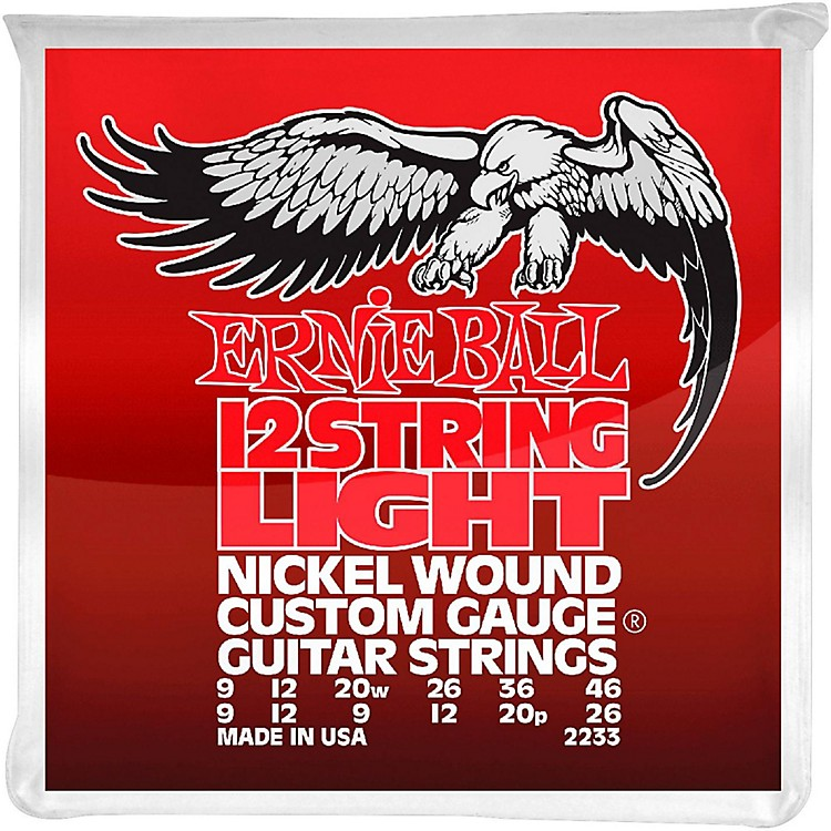 Ernie Ball2233 Nickel 12-String Light Electric Guitar Strings