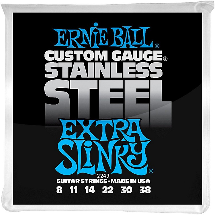 Ernie Ball 2249 Extra Slinky Stainless Steel Guitar Strings